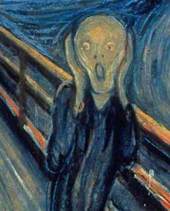 """sezione del quadro """"L'Urlo"""" di Edvard Munch"""